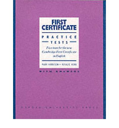 First Certificate Practice Tests: With Answers Level 1