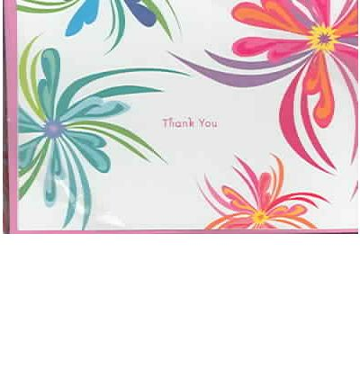 Funky Flora Thank You Cards : Light