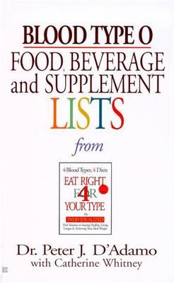 Blood Type O: Food, Beverage and Supplement List