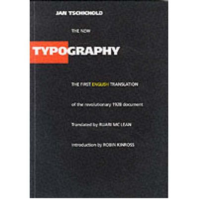 The New Typography: A Handbook for Modern Designers