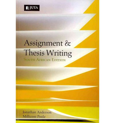 Thesis and assignment writing anderson