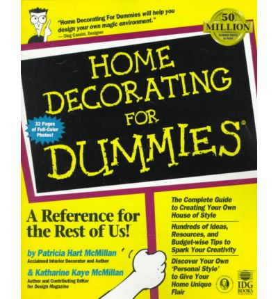 home decorating for dummies mcmillian 9780764551079