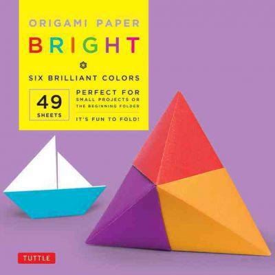 """Origami Paper - Bright - 6"""" - 49 Sheets: (Tuttle Origami Paper)"""
