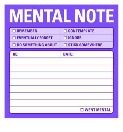 Mental Note