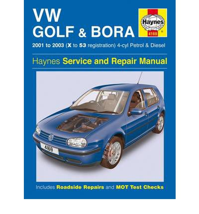 VW Golf and Bora 4-cyl Petrol and Diesel Service and Repair Manual: 2001-2003