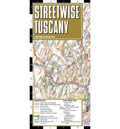 Streetwise Tuscany Map - Laminated Road Map of Tuscany, Italy