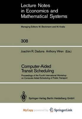 Computer-Aided Transit Scheduling
