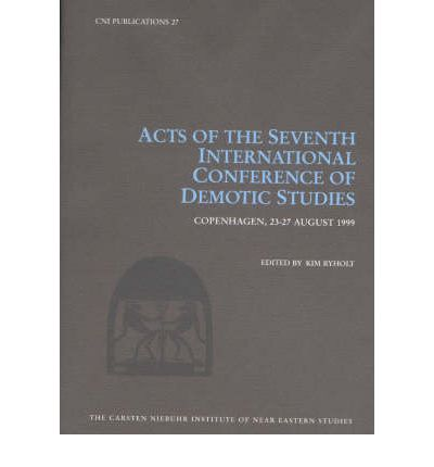Acts of the Seventh International Conference of Demotic Studies