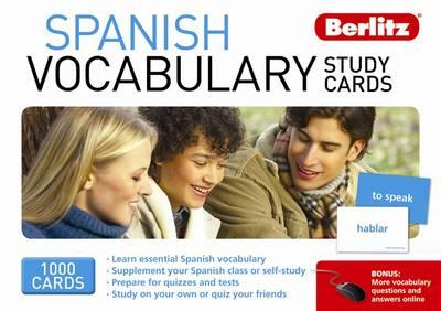 Spanish Berlitz Vocabulary Study Cards