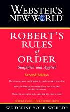 Webster's New World: AND Robert's Rules of Order