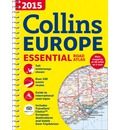 Collins Essential Road Atlas Europe 2015
