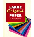 "Large Origami Paper: 24 9"" x 9"" Sheets in 12 Colours"