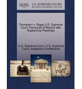 Thompson V. Riggs U.S. Supreme Court Transcript of Record with Supporting Pleadings