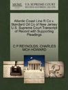 Atlantic Coast Line R Co V. Standard Oil Co of New Jersey U.S. Supreme Court Transcript of Record with Supporting Pleadings