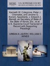 Kenneth W. Colegrove, Peter J. Chamales, and Jerome G. Kerwin, Appellants, V. Edward J. Barrett, as Secretary of State of the State of Illinois, Etc., et al. U.S. Supreme Court Transcript of Record with Supporting Pleadings