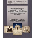 DeWitt Eddie Rogers, Petitioner V. Ohio. U.S. Supreme Court Transcript of Record with Supporting Pleadings