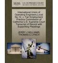 International Union of Operating Engineers, Local No.12, V. Fair Employment Practice Commission of California U.S. Supreme Court Transcript of Record with Supporting Pleadings