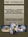 Barry & Barry, Inc., V. Washington Dept. of Motor Vehicles U.S. Supreme Court Transcript of Record with Supporting Pleadings