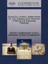 Dunlop Co. Limited V. Kelsey-Hayes Co. U.S. Supreme Court Transcript of Record with Supporting Pleadings