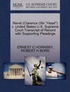 """Revel (Clarence Olin """"Head"""") V. United States U.S. Supreme Court Transcript of Record with Supporting Pleadings"""