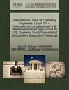 International Union of Operating Engineers, Local 701 V. International Longshoremen's & Warehousemen's Union, Local 50 U.S. Supreme Court Transcript of Record with Supporting Pleadings