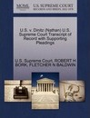 U.S. V. Dinitz (Nathan) U.S. Supreme Court Transcript of Record with Supporting Pleadings