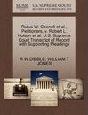 Rufus W. Gosnell et al., Petitioners, V. Robert L. Holson et al. U.S. Supreme Court Transcript of Record with Supporting Pleadings