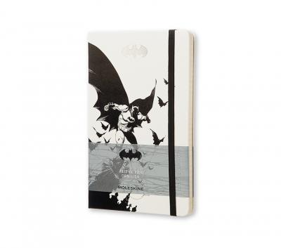 Moleskine Batman Limited Edition Notebook, Large, Ruled, White, Hard Cover (5 X 8.25)
