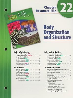 Holt Science & Technology Life Science Chapter 22 Resource File: Body Organization and Structure