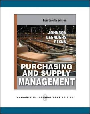 purchasing and supply management johnson leenders flynn fourteenth edition Buy purchasing and supply management 14th edition (9780073377896) by michiel leenders for up to 90% off at textbookscom.