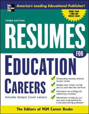 resumes for education careers the editors of vgm career