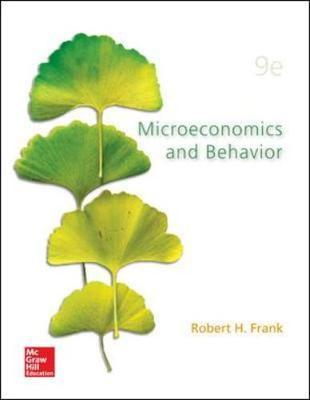 MICROECONOMICS BEHAVIOR FRANK AND ROBERT