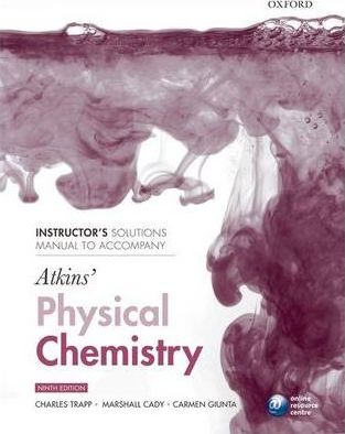 Physical Chemistry Solution Manual 9th Edition