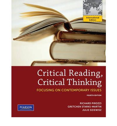 Critical Reading Critical Thinking  Pearson New International