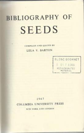 Bibliography of Seeds