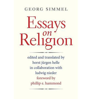 essays on religion georg simmel