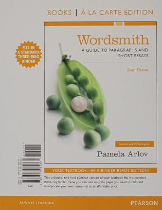 wordsmith a guide to paragraphs and short essays fourth edition If searched for a ebook by pamela arlov wordsmith: a guide to paragraphs and short essays (5th edition) in pdf form, then you've come to the loyal website.