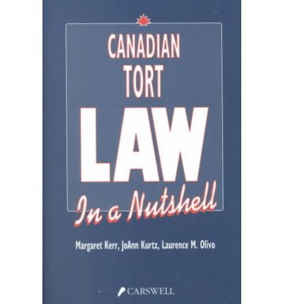 canadian tort law Professor emeritus gerald fridman is a fellow of the royal society of canada and one of canada's foremost legal scholars and authors after publication of the first edition of the law of torts in canada, he was awarded the walter owen book prize for distinguished writing on canadian law.