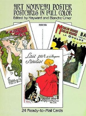 Art Nouveau Poster Postcards in Full Colour