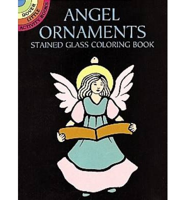Angel Ornaments Stained Glass Colouring Book