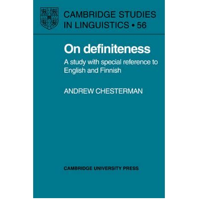On Definiteness : A Study with Special Reference to English and Finnish