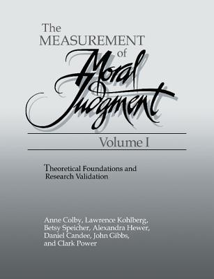 The Measurement of Moral Judgment 2 Volume Set
