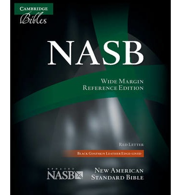 Nasb wide margin reference bible black edge lined for New american standard bible red letter edition