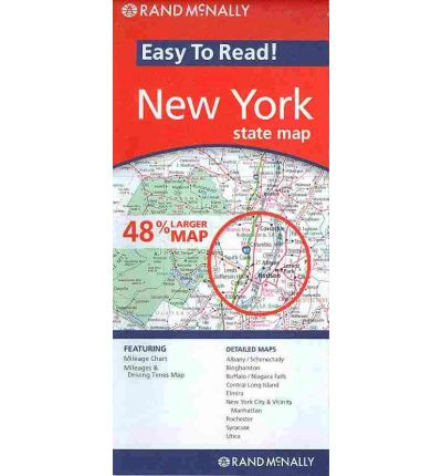 Rand McNally Easy To Read New York State Map  Rand