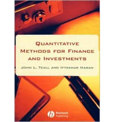 quantitative methods finance and investment A quantitative analyst (or, in financial jargon, a quant) is a person who specializes in the application of mathematical and statistical methods – such as numerical or quantitative.