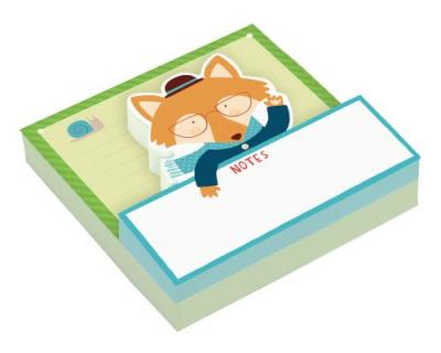 Mr Fox Shaped Memo Pads