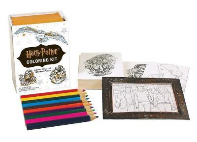 Harry potter coloring kit running press 9780762460977 Colouring books for adults waterstones