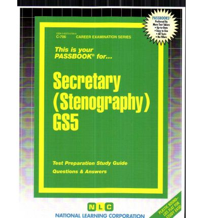 Scarica libri online Secretary Stenography Gs5 in Italian PDF ePub iBook by Jack Rudman,National Learning Corporation""