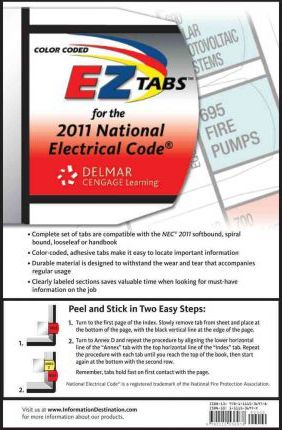 Color Coded EZ Tabs for the National Electrical Code
