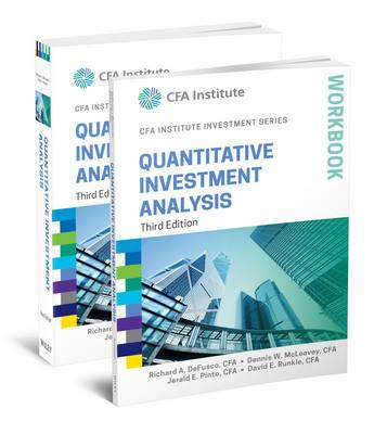 Quantitative Investment Analysis, Book And Workbook Set : Richard